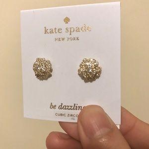 Kate Spade Gold Crystal Flower Studs